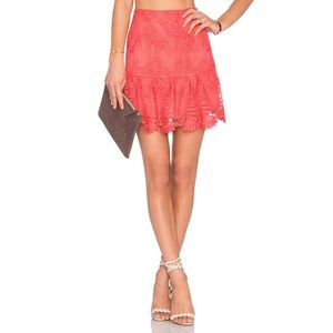 Lovers + Friends | Blair Skirt in Coral Reef